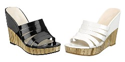 Black or white bamboo shoes by Nine West