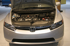 Engine compartment of the Honda NGV by jmrosenfeld on Flickr