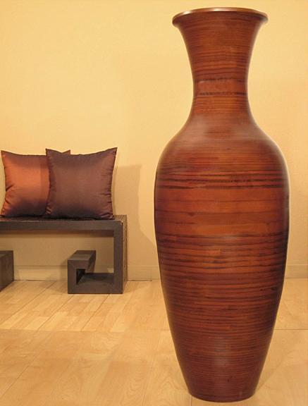 Large salt ceder colored vase