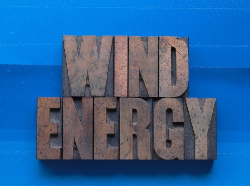 Wind power energy sign