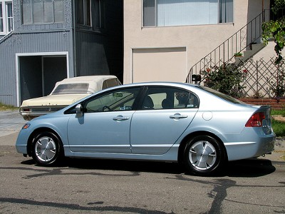 Honda Civic Hybrid full side view by Brianwc on Flickr