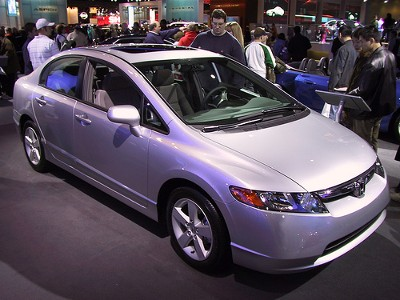 Honda Civic Hybrid front and side view by Anthonares on Flickr