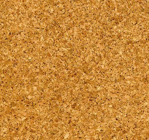 Light colored even pattern eco cork floor tile