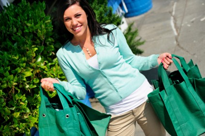 Shopper with eco friendly bags