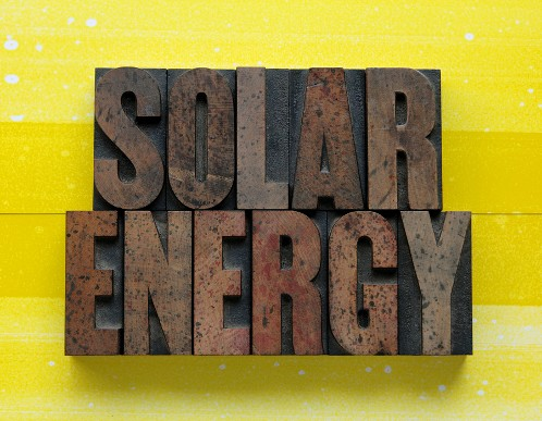 Solar eco energy sign
