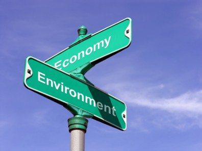 The crossroad of a clean eco friendly environment and a thriving economy
